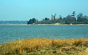 A87DH9 View  over River Alde looking towards Iken Suffolk England
