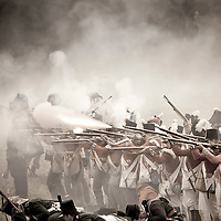 Waterloo, Belgium 17 June 2012<br /> People in period uniforms re-enact the 1815 Battle of Waterloo between the French army led by Napoleon and the Allied armies led by the Duke of Wellington and Field-Marshal Blucher.<br /> Photo: Ezequiel Scagnetti