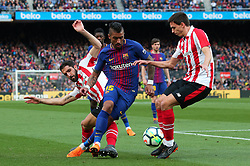 March 18, 2018 - Barcelona, Spain - Paulinho Bezerra and Raul Garcia during the match between FC Barcelona and Athletic Club, played at the Camp Nou Stadium on 18th March 2018 in Barcelona, Spain. (Credit Image: © Joan Valls/NurPhoto via ZUMA Press)