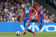 James Tomkins of Crystal Palace in action. Premier League match, Crystal Palace v Stoke city at Selhurst Park in London on Sunday 18th Sept 2016. pic by John Patrick Fletcher, Andrew Orchard sports photography.