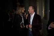 TRINNI WOODALL AND SIMON SEBAG-MONTEFIORE, ' Top Tips for Girls' Kate Reardon - book launch party<br />Claridge's Hotel, Brook Street, London,28 January 2008. -DO NOT ARCHIVE-© Copyright Photograph by Dafydd Jones. 248 Clapham Rd. London SW9 0PZ. Tel 0207 820 0771. www.dafjones.com.