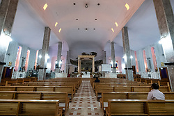 Interior of Holy Family Cathedral in Kuwait city, Kuwait