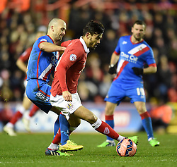 Bristol City's Marlon Pack controls the ball away from Doncaster's Paul Keegan during the FA Cup third round replay between Bristol City and Doncaster Rovers at Ashton Gate on January 13, 2015 in Bristol, England.- Photo mandatory by-line: Paul Knight/JMP - Mobile: 07966 386802 - 13/01/2015 - SPORT - Football - Bristol - Ashton Gate Stadium - Bristol City v Doncaster Rovers - FA Cup third round replay