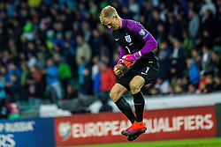 Joe Hart of England during football match between National teams of Slovenia and England in Round #3 of FIFA World Cup Russia 2018 qualifications in Group F, on October 11, 2016 in SRC Stozice, Ljubljana, Slovenia. Photo by Grega Valancic / Sportida