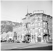 """Durango's Strater Hotel in the 1940s.<br /> Durango, CO  1940-1949<br /> In book """"Durango: Always a Railroad Town (1st ed.)"""" page 176"""