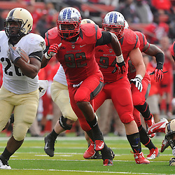 10 November 2012: Army Black Knights full back Larry Dixon (26) rushes the ball during NCAA college football action between the Rutgers Scarlet Knights and Army Black Knights at High Point Solutions Stadium in Piscataway, N.J..]