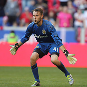 HARRISON, NEW JERSEY- OCTOBER 16: Goalkeeper   Brad Stuver #41 of Columbus Crew in action during the New York Red Bulls Vs Columbus Crew SC MLS regular season match at Red Bull Arena, on October 16, 2016 in Harrison, New Jersey. (Photo by Tim Clayton/Corbis via Getty Images)