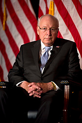 Sept. 10, 2015 - Yorba Linda, CA, USA - Former vice president Dick Cheney answers a question from his daughter, Liz Cheney, about the book ''Exceptional: Why the World Needs a Powerful America'' which the father-daughter team wrote.  The pair were visiting the Nixon Library in Yorba Linda , California on Thursday, September 10, 2015. ..///ADDITIONAL INFORMATION :9/10/15  cheney.0912.mm - MATT MASIN, STAFF Matt Masin..Coverage of former VP Dick Cheney and his daughter's talk at the Nixon library, to promote their book, ''Exceptional: Why the World Needs a.Powerful America. (Credit Image: © Matt Masin/The Orange County Register via ZUMA Wire)