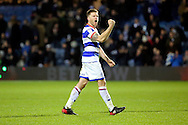Queens Park Rangers striker Jamie Mackie (12) celebrating with arm in the air during the EFL Sky Bet Championship match between Queens Park Rangers and Ipswich Town at the Loftus Road Stadium, London, England on 2 January 2017. Photo by Matthew Redman.