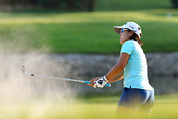 May 26, 2018 - Ann Arbor, Michigan, United States - Nasa Hataoka of Ibaraki, Japan blasts out of the sand trap at the 18th green during the third round of the LPGA Volvik Championship at Travis Pointe Country Club, Ann Arbor, MI, USA Saturday, May 26, 2018. (Credit Image: © Amy Lemus/NurPhoto via ZUMA Press)
