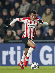 Donyell Malen of PSV during the Dutch Eredivisie match between PSV Eindhoven and PEC Zwolle at the Phillips stadium on February 03, 2018 in Eindhoven, The Netherlands