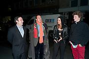 GREGOR MUIR; DETMAR BLOW; Mara Castilho; CARLOS NORONHA FELO, Robert Mapplethorpe's A Season in Hell. Alison Jacques Gallery and afterwards at the Sanderson Hotel. Berners St. London. 13 October 2009.