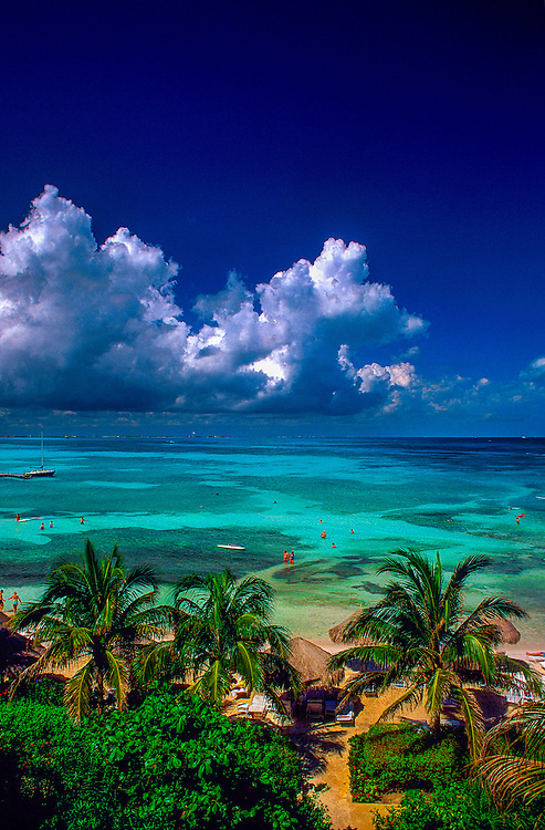 The Caribbean Sea off Cancun, Mexico