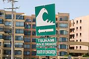 Route of evacuation in case on an tsunami, la Serena, Chile