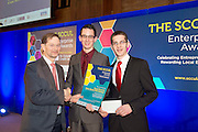 SCCUL Enterprise Student Award<br /> 2nd Prize , Enoch Burke & Isaac Burke<br /> Sponsored by Galway City Council and Presented by Mr. Tom O'Connell.<br /> This business idea is the brainchild of brothers Enoch and Isaac Burke who hail from Castlebar.  Enoch is studying BA in History, German, Sociology and Politics at NUI Galway and Isaac is studying for a doctorate in pure maths here in NUI Galway.<br /> Their business idea (MyStudySheets.com) is to provide third & second level mathematics study aids in a very accessible format. ie through pdf downloads. They launched their idea tentatively last October. <br /> The poor availability of high-quality third-level study aids was a major factor in the development of the business idea. Also, the poor student grasp of key mathematical principles helped them to develop resources which they trialed in teaching one-to-one and in group settings over the last five years (2009-2013).<br /> The success with these purpose-built resources inspired them to reach a wider audience via a website which they launched in October 2013.In November, a free promotional product for NUI Galway 1st Engineering students was uploaded. Downloads skyrocketed as over 40% of the targeted class downloading the product. <br /> Enoch and Isaac are currently working on new sets of Study Sheets for Junior and Leaving Certificate Higher Level Maths which they hope to launch sometime before Easter 2014. Photo:Andrew Downes