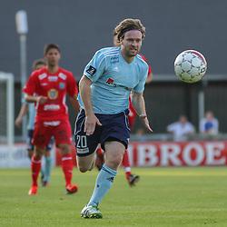 Lasse Qvist (FC Helsingør) under træningskampen mellem FC Helsingør og IS Halmia (Sverige) den 24. juli 2012 på Helsingør Stadion (Foto: Claus Birch).