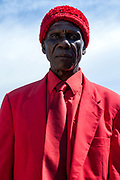Portrait of a man well dressed in Red, Mzuzu, Lake Malawi