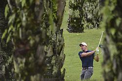October 12, 2018 - Kuala Lumpur, Malaysia - Scott Stallings of the USA hits a shot during the second round of 2018 CIMB Classic golf tournament in Kuala Lumpur, Malaysia on October 12, 2018. (Credit Image: © Zahim Mohd/NurPhoto via ZUMA Press)