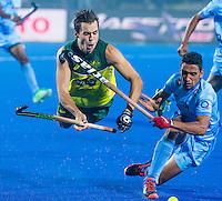LUCKNOW (India) -   Junior World Cup hockey  U21 for men . Semi Final AUSTRALIA v INDIA  (2-2). Tom Craig (AUS) is stopped by Gurinder Sighn (India)  COPYRIGHT  KOEN SUYK
