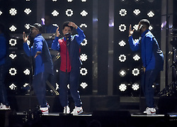 Bruno Mars on stage at the BRIT Awards 2017, held at The O2 Arena, in London.<br /><br />Picture date Tuesday February 22, 2017. Picture credit should read Matt Crossick/ EMPICS Entertainment. Editorial Use Only - No Merchandise.