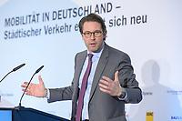 """18 FEB 2020, BERLIN/GERMANY:<br /> Andreas Scheuer, CSU, Bundesverkehrsminister, F.A.Z. Konferenz """"Mobilitaet in Deutschland - Staedtischer Verkehr erfindet sich neu"""", F.A.Z.-Atrium Berlin<br /> IMAGE: 20200218-01-089<br /> KEYWORDS: Frankfurter Allgemiene Zeitung, Mobilität, FAZ"""