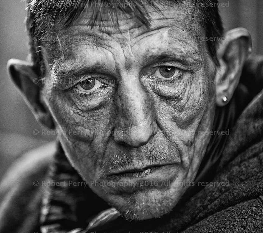 Beggars on the streets of Glasgow. Jim. Picture Robert Perry f13th May 2016<br /> <br /> Must credit photo to Robert Perry<br /> <br /> FEE PAYABLE FOR REPRO USE<br /> FEE PAYABLE FOR ALL INTERNET USE<br /> www.robertperry.co.uk<br /> NB -This image is not to be distributed without the prior consent of the copyright holder.<br /> in using this image you agree to abide by terms and conditions as stated in this caption.<br /> All monies payable to Robert Perry<br /> <br /> (PLEASE DO NOT REMOVE THIS CAPTION)<br /> This image is intended for Editorial use (e.g. news). Any commercial or promotional use requires additional clearance. <br /> Copyright 2016 All rights protected.<br /> first use only<br /> contact details<br /> Robert Perry     <br /> 07702 631 477<br /> robertperryphotos@gmail.com<br />         <br /> Robert Perry reserves the right to pursue unauthorised use of this image . If you violate my intellectual property you may be liable for  damages, loss of income, and profits you derive from the use of this image.