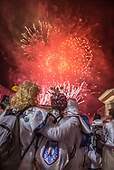 Like many other events, the fireworks mark the end of the Carnival