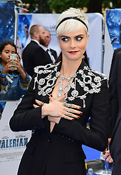 Cara Delevingne attending the European premiere of Valerian and the City of a Thousand Planets at Cineworld in Leicester Square, London.