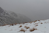 In the morning the snow was falling quite determinedly in Ruddy/Grains Gill (Borrowdale)