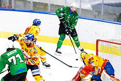 Miha Zajc of HK SZ Olimpija during 3rd leg of ic hockey game between HK SZ Olimpija Ljubljana and Asiago Hockey in Final of Alps Hockey League 2020/21, on April 24, 2021 in Hala Tivoli, Ljubljana, Slovenia Photo by Matic Klansek Velej / Sportida