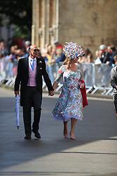 Guests arriving at York Minster for the wedding of singer Ellie Goulding to Caspar Jopling.