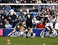 Photo: Mark Stephenson.<br /> West Bromwich Albion v Birmingham City. Coca Cola Championship. 18/03/2007.West Brom's Paul McShane put the ball past Birmingham's keeper Colin Doyle