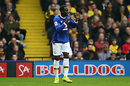 Romelu Lukaku of Everton celebrates after scoring his sides 1st goal.Premier league match, Watford v Everton at Vicarage Road in Watford, London on Saturday 10th December 2016.<br /> pic by John Patrick Fletcher, Andrew Orchard sports photography.