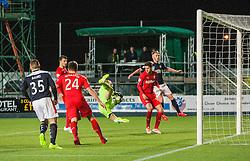 Rangers Lee Robinson saves. Falkirk 1 v 1 Rangers, Scottish Championship game played 27/2/2014 at The Falkirk Stadium .