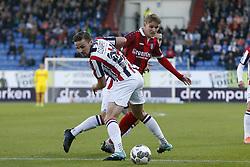 (L-R), Ben Rienstra of Willem II, Martin Odegaard of SC Heerenveen during the Dutch Eredivisie match between Willem II Tilburg and sc Heerenveen at Koning Willem II stadium on September 23, 2017 in Tilburg, The Netherlands