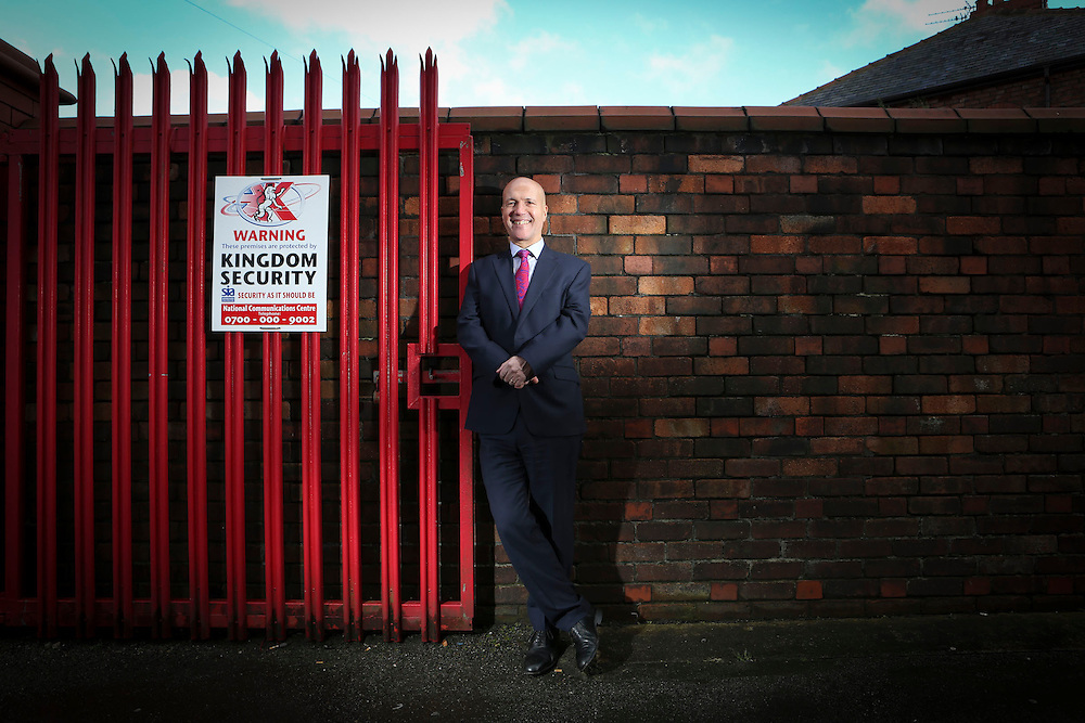 12/02/14 St Helens , Lancs - Terry Barton MD of Kingdom Security , St Helens