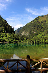 June 5, 2017 - China - Sichuan, CHINA-June 5 2017: (EDITORIAL USE ONLY. CHINA OUT) Scenery of Jiuzhai Valley National Park in southwest China's Sichuan Province, June 5th, 2017. (Credit Image: © SIPA Asia via ZUMA Wire)