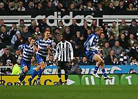 Photo: Andrew Unwin.<br /> Newcastle United v Reading. The Barclays Premiership. 06/12/2006.<br /> Reading's James Harper (R) celebrates his goal.