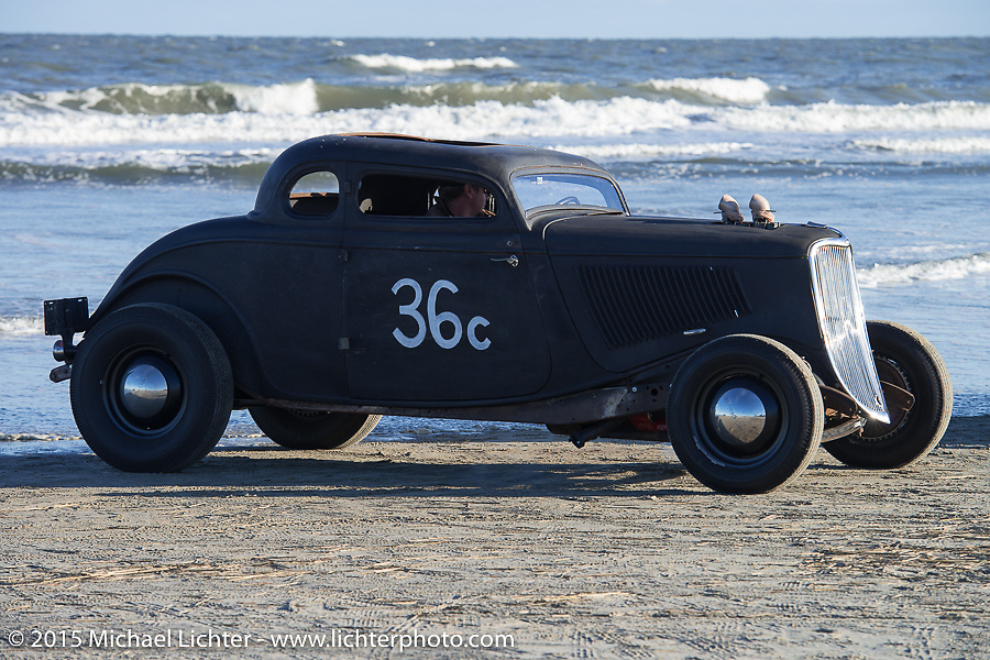 George Gudat's Ford Coupe from New Jersey at the Race of Gentlemen. Wildwood, NJ, USA. October 10, 2015.  Photography ©2015 Michael Lichter.