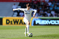 Ki Sung-Yueng of Swansea city in action. Premier league match, Swansea city v Stoke City at the Liberty Stadium in Swansea, South Wales on Saturday 22nd April 2017.<br /> pic by Andrew Orchard, Andrew Orchard sports photography.
