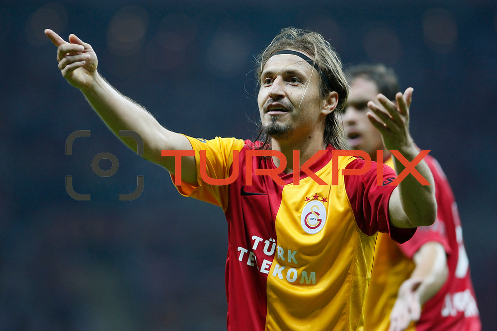 Galatasaray's Ayhan AKMAN during their Friendly soccer match Galatasaray between Liverpool at the TT Arena at Arslantepe in Istanbul Turkey on Saturday 28 July 2011. Photo by TURKPIX
