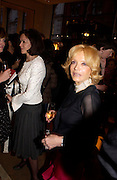 Lady Barbara Black  and Lady Wyatt. Book party for LAST VOYAGE OF THE VALENTINA by Santa Montefiore (Hodder & Stoughton) Asprey,  New Bond St. 12 April 2005. ONE TIME USE ONLY - DO NOT ARCHIVE  © Copyright Photograph by Dafydd Jones 66 Stockwell Park Rd. London SW9 0DA Tel 020 7733 0108 www.dafjones.com