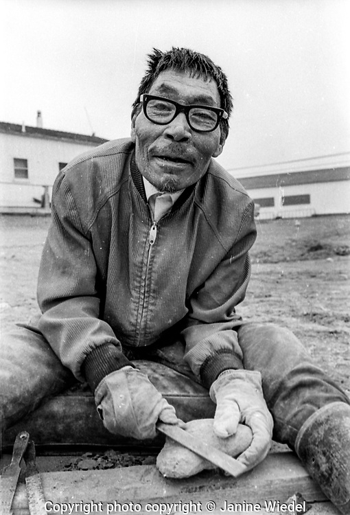 Inuit life in the Canadian Arctic settlement of Pangnirtung in the territory of Nunavut (North West Territories) 1973