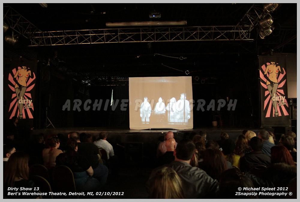 DETROIT, MI, FRIDAY, FEB. 10, 2012: Dirty Show 13, Infared Art at Bert's Warehouse Theatre, Detroit, MI, 02/10/2012.  (Image Credit: Michael Spleet / 2SnapsUp Photography)