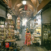 Silversmith section of the Urfa old bazaar.