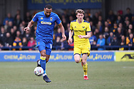 AFC Wimbledon midfielder Liam Trotter (14) dribbling during the EFL Sky Bet League 1 match between AFC Wimbledon and Oxford United at the Cherry Red Records Stadium, Kingston, England on 10 March 2018. Picture by Matthew Redman.