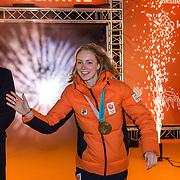 NLD/Amsterdam/20180226 - Thuiskomst TeamNL, Carlijn Achtereekte