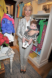 TAMARA BECKWITH and her daughter VIOLET at 'Paint Your Polo Celebration' a children's party in aid of the charity Clic Sargent held at Ralph Lauren, 139/141 Fulham Road, London on 28th April 2009.