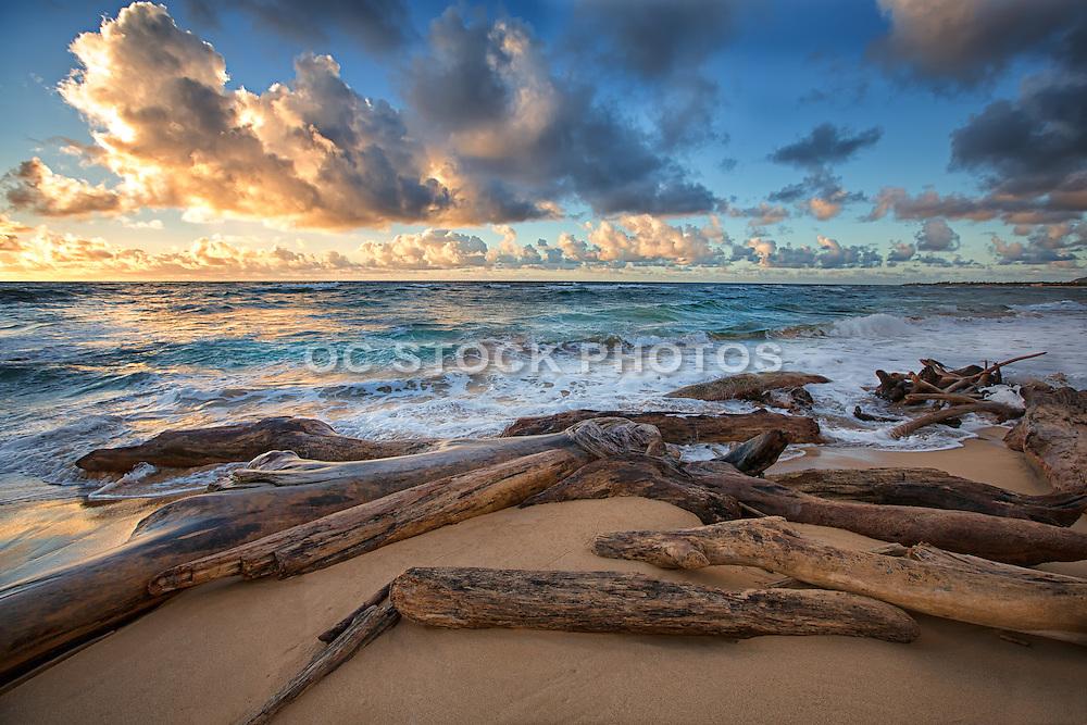 Sunrise at Lydgate Beach in Kauai Hawaii