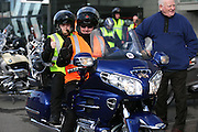 NO FEE PICTURES.5/5/13 On Saturday May 4th, the 8th Annual Rev-up4DSI motorcycle challenge in aid of Down Syndrome Ireland departed Joe Duffy BMW in Dublin, bound for Donegal. Pictured are Brendan and Mark Reilly, Bellewstown. Picture:Arthur Carron Photography